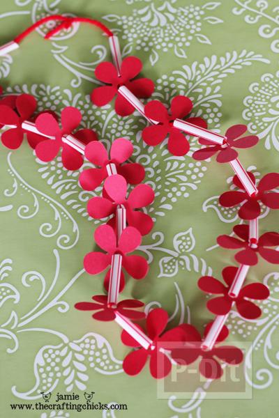 รูป 2 สร้อยคอดอกไม้แสนสวย สำหรับเด็ก