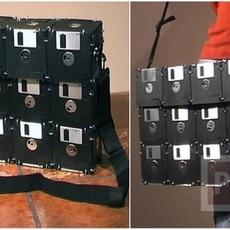 กระเป๋า ทำจากแผ่น Floppy Disk