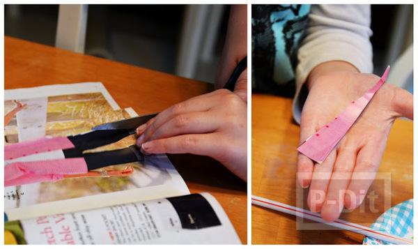 รูป 3 สร้อยแขน ทำจากหลอดกาแฟ กระดาษนิยสาร