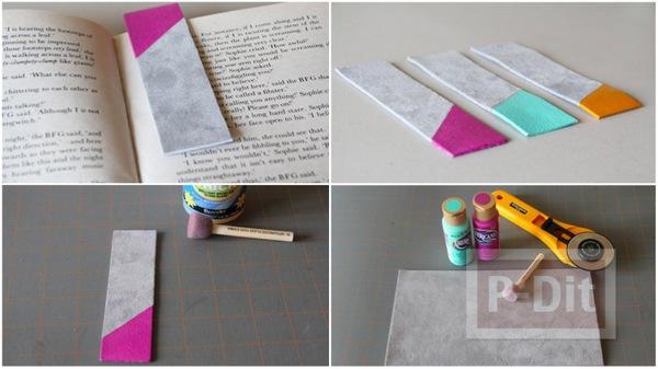 รูป 1 ทำที่คั่นหนังสือ จากแผ่นหนัง ทาสี