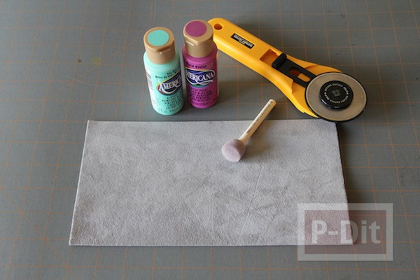 รูป 4 ทำที่คั่นหนังสือ จากแผ่นหนัง ทาสี