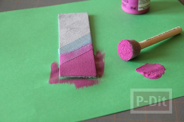 รูป 5 ทำที่คั่นหนังสือ จากแผ่นหนัง ทาสี