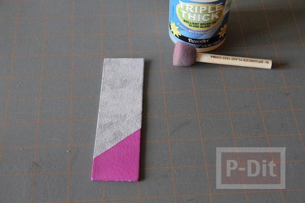 รูป 6 ทำที่คั่นหนังสือ จากแผ่นหนัง ทาสี