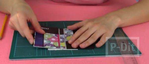รูป 7 สอนทำที่ใส่มือถือ จากกระดาษปกสมุด