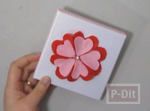 รูป 7 ตกแต่งกล่องของขวัญ ด้วยดอกไม้ ประดับ