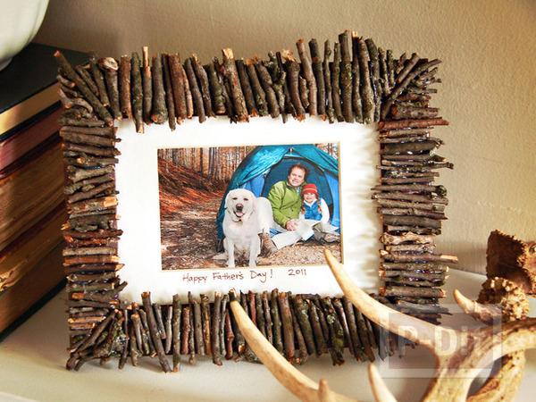 รูป 1 ตกแต่งกรอบรูปกิ่งไม้แห้ง ประดับรูป