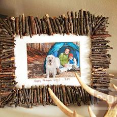 ตกแต่งกรอบรูปกิ่งไม้แห้ง ประดับรูป