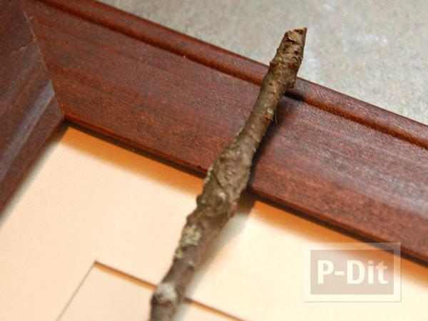รูป 3 ตกแต่งกรอบรูปกิ่งไม้แห้ง ประดับรูป