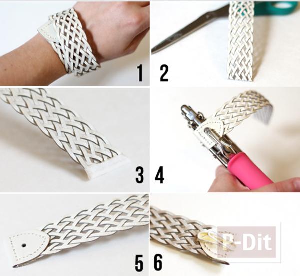 รูป 3 สร้อยข้อมือ ทำจากเข็มขัดเส้นเก่า