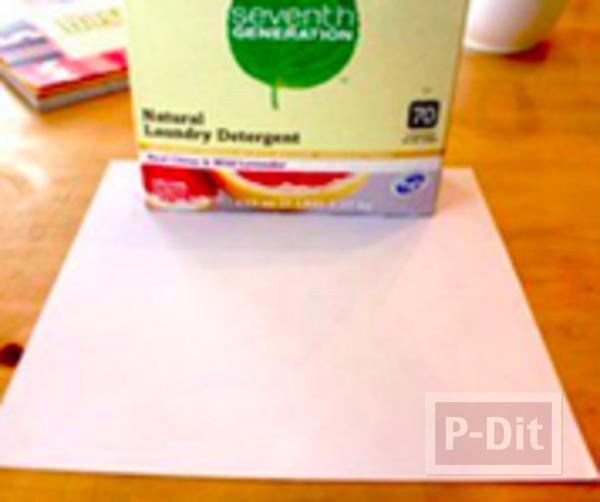 รูป 2 เปลี่ยนกล่องกระดาษ ให้เป็นถุงของขวัญ