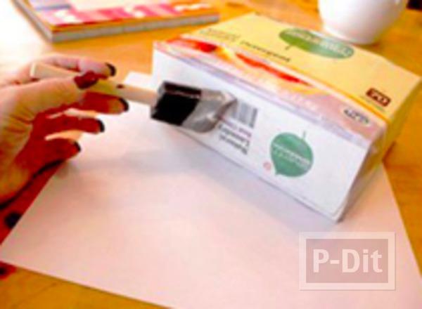 รูป 3 เปลี่ยนกล่องกระดาษ ให้เป็นถุงของขวัญ