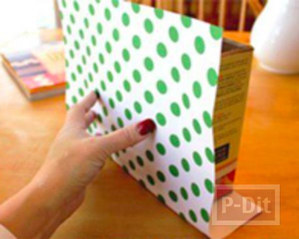 รูป 4 เปลี่ยนกล่องกระดาษ ให้เป็นถุงของขวัญ
