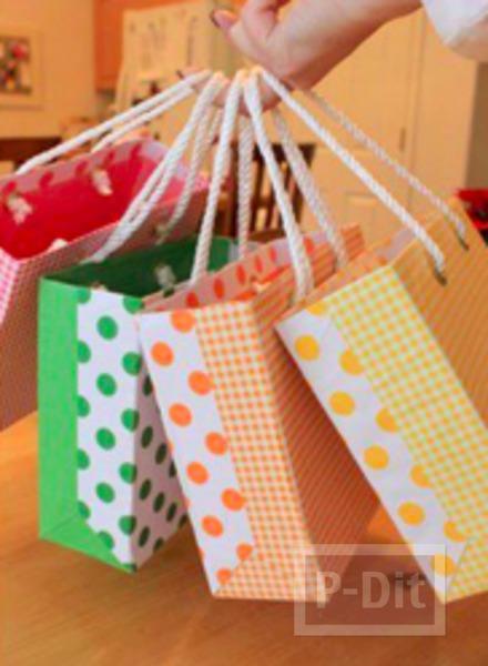 รูป 7 เปลี่ยนกล่องกระดาษ ให้เป็นถุงของขวัญ