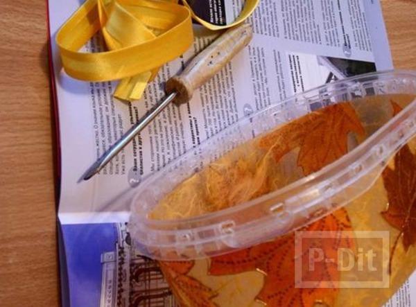 รูป 6 กล่องพลาสติกใส่อาหาร นำมาตกแต่งใหม่ สวยน่าใช้