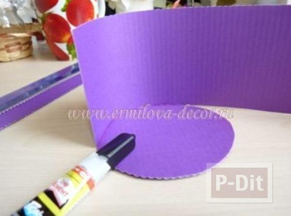 รูป 5 กล่องใส่เครื่องประดับ ทำจากกระดาษลังพ่นสี