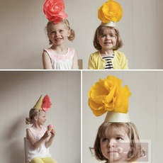 หมวกกระดาษงานปาร์ตี้ ทำเอง ประดับดอกสวย