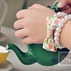 สร้อยข้อมือสวยๆ ประดิษฐ์จากเม็ดมุก