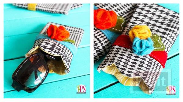 กระเป๋าใส่แว่นตา ทำจากผ้า