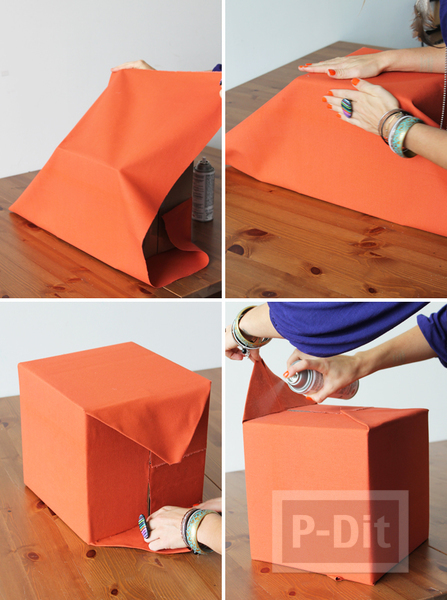 รูป 4 เปลี่ยนลังกระดาษรกๆ ให้เป็นกล่องใส่ของมีหูหิ้ว