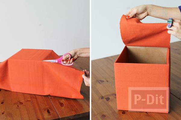 รูป 5 เปลี่ยนลังกระดาษรกๆ ให้เป็นกล่องใส่ของมีหูหิ้ว