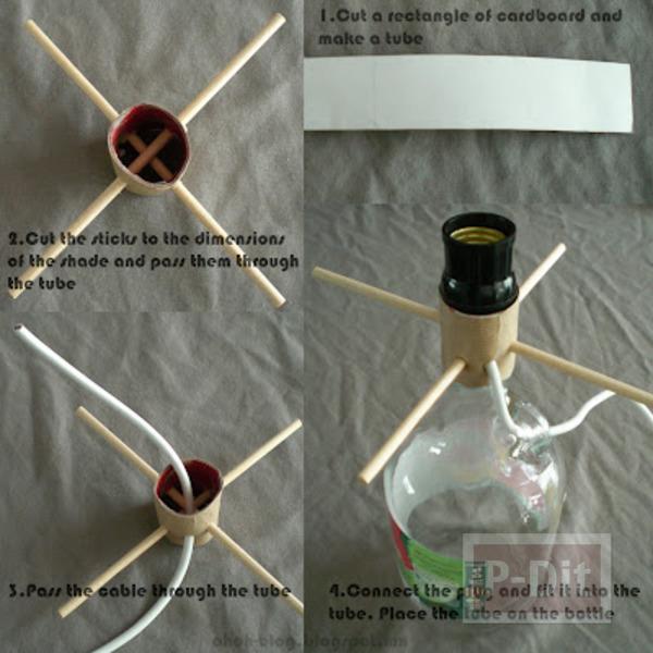 รูป 3 สอนทำโคมไฟตั้งโต๊ะ ด้วยตัวเอง