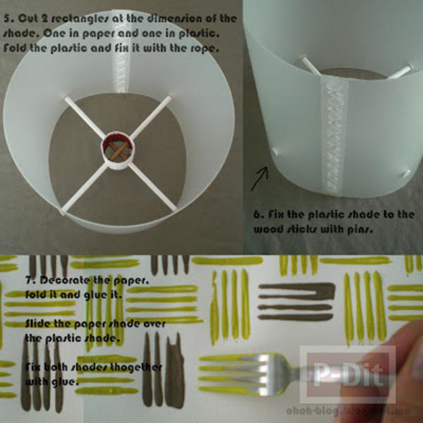 รูป 4 สอนทำโคมไฟตั้งโต๊ะ ด้วยตัวเอง