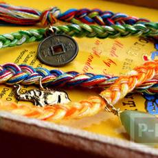 ถักสร้อยแขน จากเชือกสีสวย