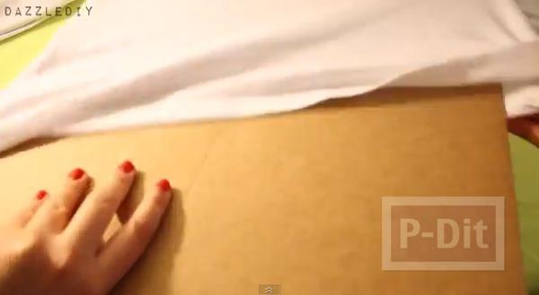 รูป 5 เสื้อยืดสีขาว วาดลายสวย จากพู่กัน