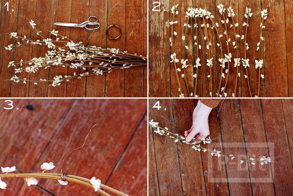 รูป 3 มงกุฎดอกไม้ ทำจากดอกไม้เล็กๆสีขาว