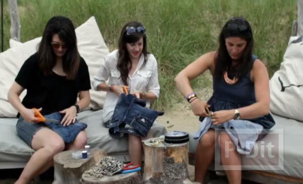 รูป 4 กระเป๋าสะพาย ทำจากกางเกงยีนส์