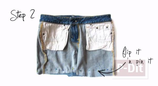 รูป 5 กระเป๋าสะพาย ทำจากกางเกงยีนส์