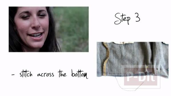 รูป 6 กระเป๋าสะพาย ทำจากกางเกงยีนส์