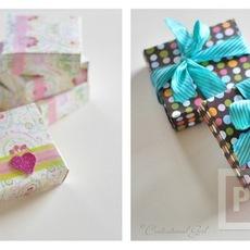 ประดิษฐ์กล่องกระดาษ เล็กๆ ใส่ของขวัญ