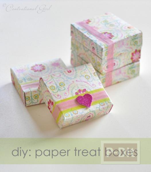 รูป 6 ประดิษฐ์กล่องกระดาษ เล็กๆ ใส่ของขวัญ