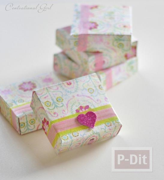 รูป 7 ประดิษฐ์กล่องกระดาษ เล็กๆ ใส่ของขวัญ