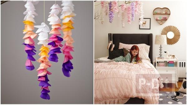 ประดิษฐ์ดอกไม้ประดับห้อง จากกระดาษย่น