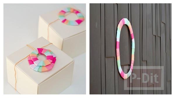 โบว์ประดับกล่องของขวัญ จากกระดาษหลากสี