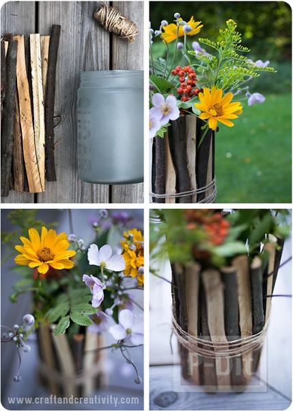 รูป 2 แจกันดอกไม้แสนสวย ตกแต่งด้วยกิ่งไม้