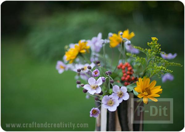 รูป 3 แจกันดอกไม้แสนสวย ตกแต่งด้วยกิ่งไม้