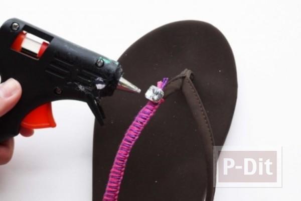 รูป 5 ผูกเชือก ประดับตกแต่งรองเท้าแตะ