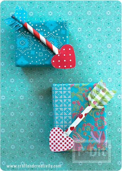 รูป 1 กล่องของขวัญ ลูกศรปักใจ ส่งรัก