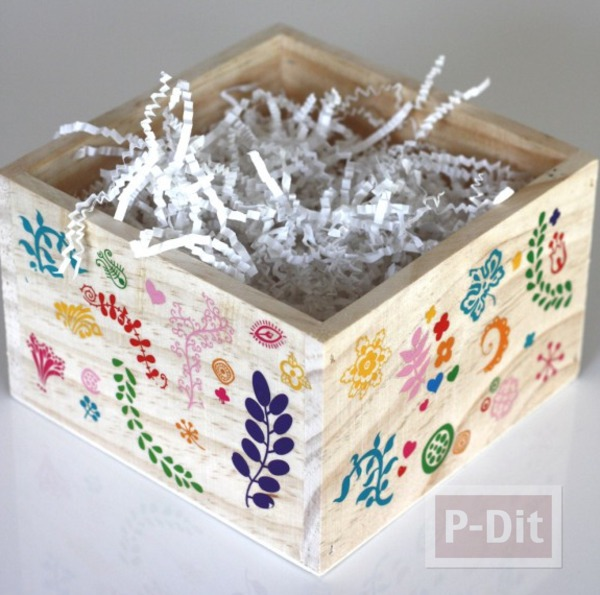 รูป 2 ตกแต่งกล่องใส่ของ สติกเกอร์ลายสวย