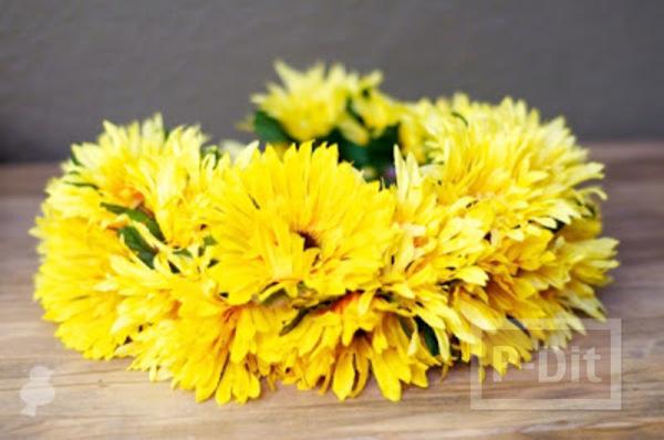 รูป 6 สอนทำมงกุฎดอกไม้ ดอกทานตะวัน