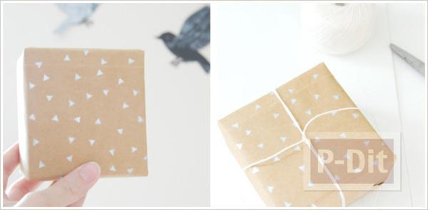 รูป 4 ลายปั้มสามเหลี่ยม ทำจากยางลบก้นดินสอ