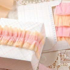 โบว์ห่อของขวัญ ทำจากกระดาษย่น
