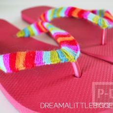 รองเท้าฟองน้ำ แบบมีหูคีบ ตกแต่งสีสด