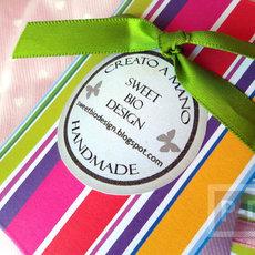 กล่องของขวัญ ทำเอง จากกระดาษสีสด