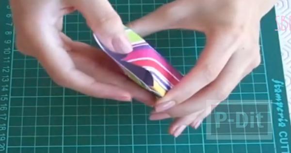 รูป 3 กล่องของขวัญ ทำเอง จากกระดาษสีสด