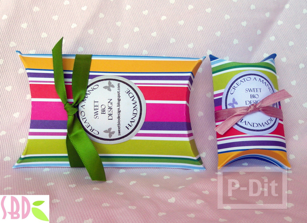 รูป 7 กล่องของขวัญ ทำเอง จากกระดาษสีสด