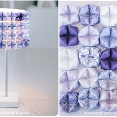 โคมไฟสวยๆ ตกแต่งด้วยกระดาษสี